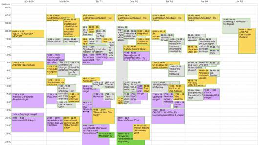 Min kalender för Almedalen 2014
